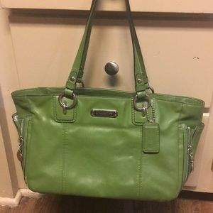 Kelly Green Coach Purse